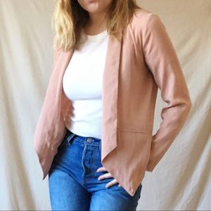 Foreign Exchange Blush Pink Blazer Light Jacket